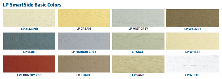 Lp smartside colors home design inspirations for Diamond kote lp siding colors